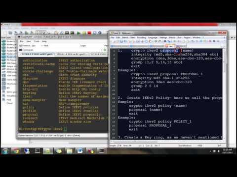 IKEv2 Based IPsec and SVTI- VPN Demo