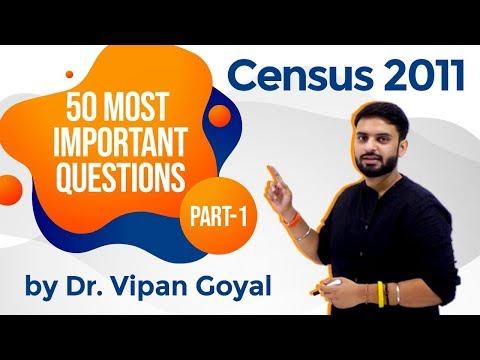 Census 2011 I 50 Most Important Questions of Census 2011 Part 1 I Dr Vipan Goyal I Study IQ
