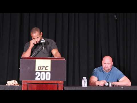 Daniel Cormier reacts to Jon Jones being pulled from UFC 200