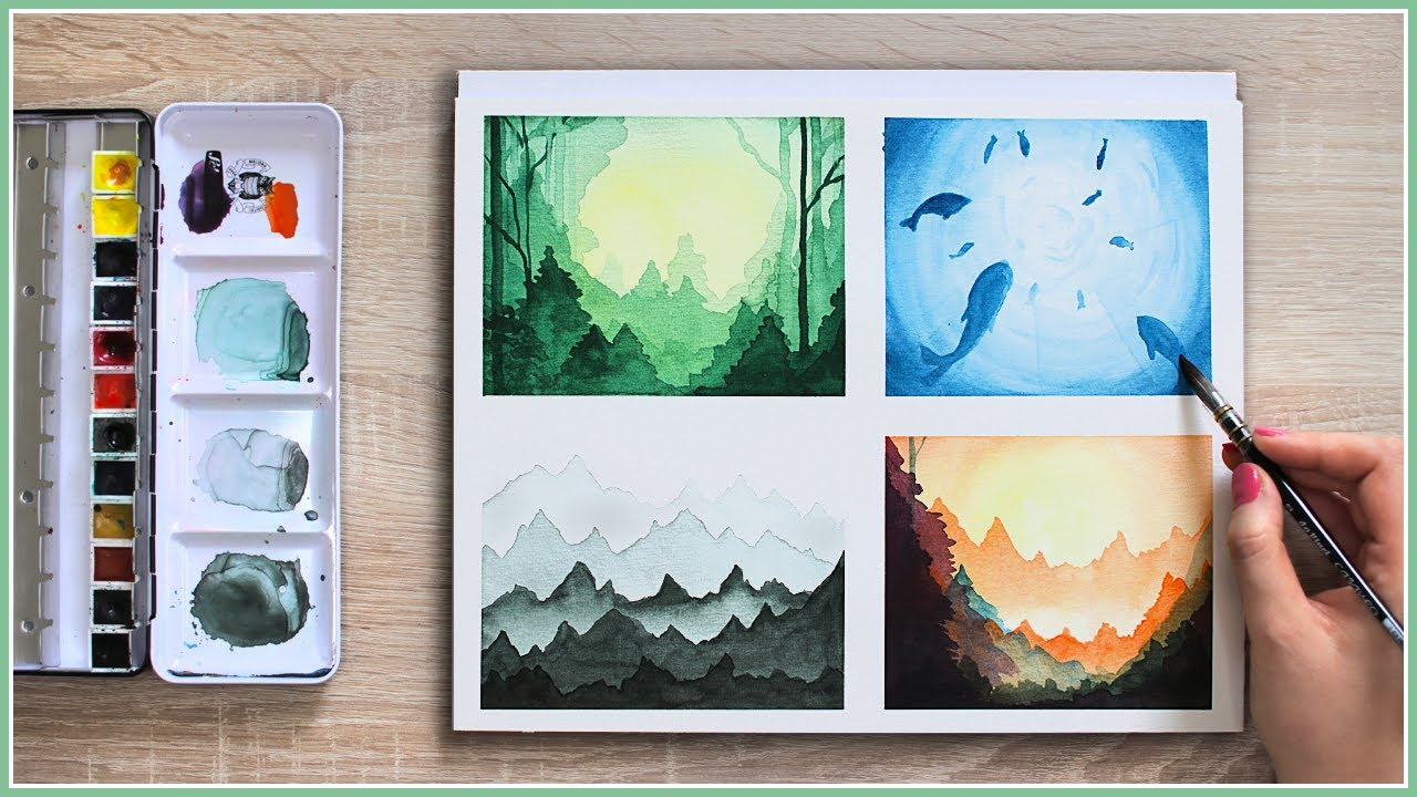 Make Your Watercolor Painting Look MAGICAL With These Easy Watercolor  Techniques U0026 Ideas!