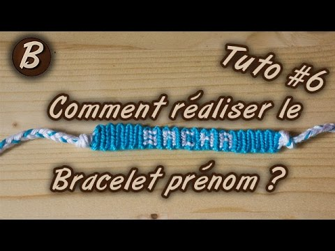 bracelet br silien le bracelet pr nom tutoriel 6. Black Bedroom Furniture Sets. Home Design Ideas