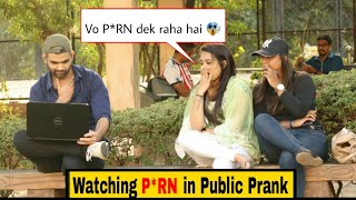 Watching Comedy video IN PUBLIC PRANK | HILARIOUS REACTION🤣 |PRANKS IN INDIA | PRANKS 2019