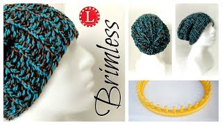 LOOM KNIT Hat for Beginners - Brimless Slouchy Round Loom | Loomahat