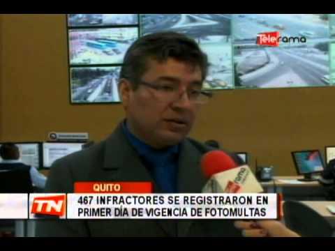 467 infractores se registraron en primer día de vigencia de fotomultas