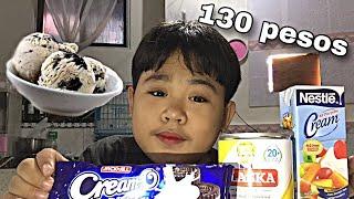 PAANO GUMAWA NG CREAM-O ICE CREAM WORTH 130 PESOS (ANG SARAP BES)    SammyManese   