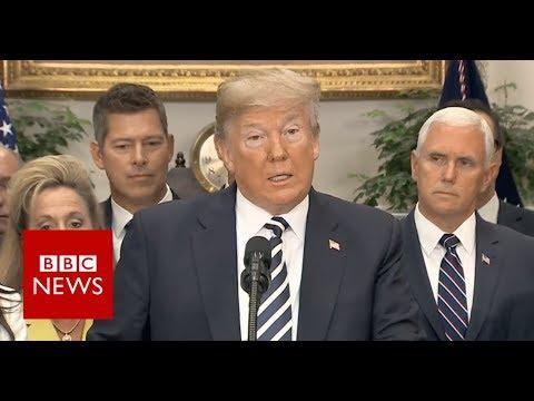 Trump on North Korea: 'Powerful US military is ready' - BBC News