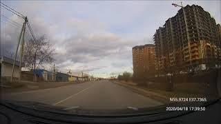 Driving in Moscow region: Челобтьево - Пушкино 18/04/2020 (timelapse 4x)