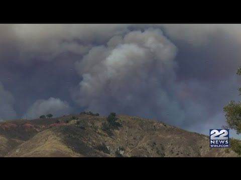 Homes burned by California fire; teams look for more damage