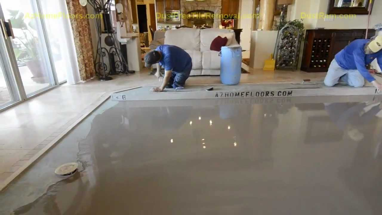 Super Flat Concrete Leveling With The DustRam System 1