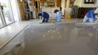 Super Flat Concrete Leveling With The DustRam™ System:  1/16