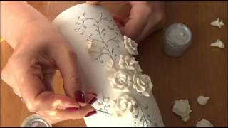DIY Украшение свадебного шампанского часть 2. Decoration Wedding champagne part 2
