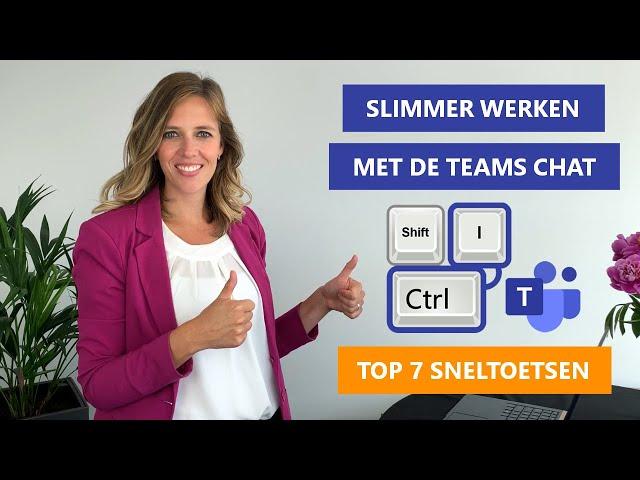 7 handige sneltoetsen voor de Teams Chatfunctie 💬⌨️