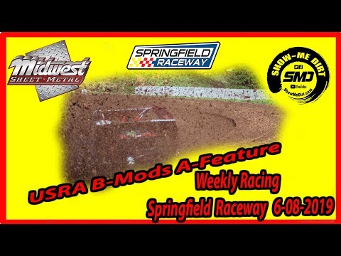 S03-E286  B-Mods A-Feature - Springfield Raceway 6-08-2019 #DirtTrackRacing
