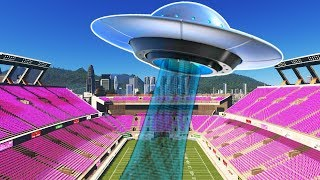 UFOs Invade my 5 Star University Campus in Cities Skylines Campus DLC