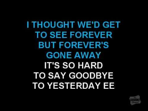 Boyz II Men - It's So Hard To Say Goodbye To Yesterday (Karaoke)