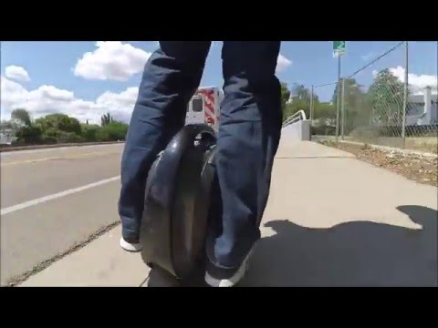 Electric Unicycle Gotway MCM4 official test!  This thing rocks!!