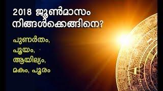Astrology Horoscope For June 2018 Punarthamto Pooram