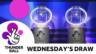 the national lottery thunderball draw results from wednesday 18th may 2016