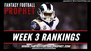 Week 3 Fantasy Football Rankings