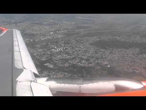 (HD) Full Flight A319 Nantes-EuroAirport Basel Easyjet switzerland seat 10A