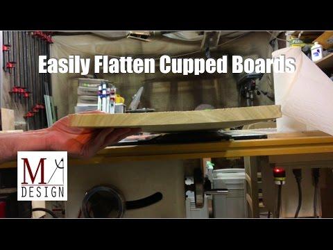 Flatten Cupped Boards