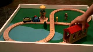Thomas And Friends Wooden Railway - Water Tower, Covered Bridge, And Ikea - Lillabo Railway Set