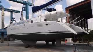 Lagoon 440 Catamaran walkthrough presentation with look under the hull