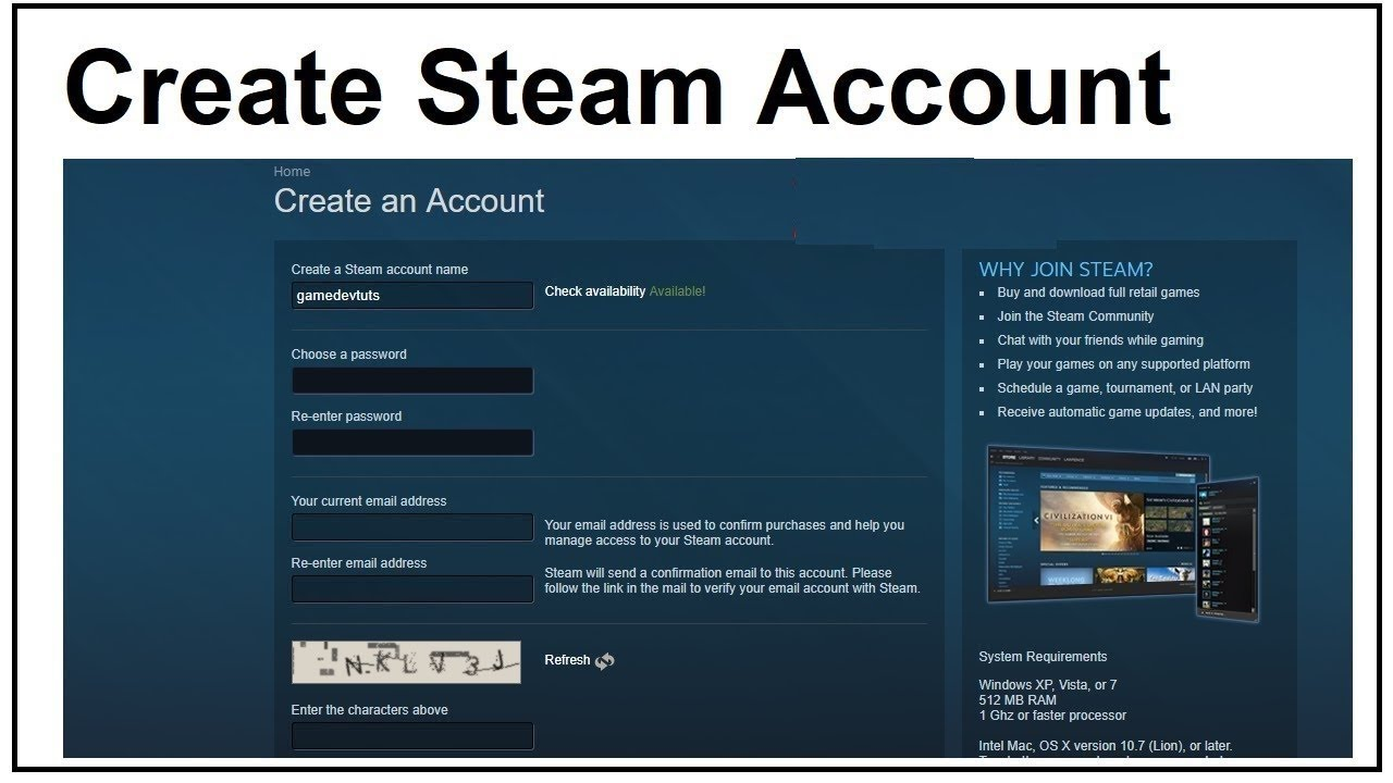 How To Create A Steam Account Working Youtube