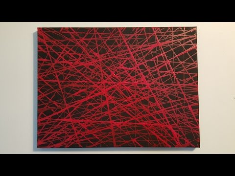 """Abstract Painting Art Demo - """"Life Lines 4"""" Embrace The Matrix"""