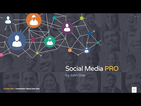 social media pro powerpoint template youtube