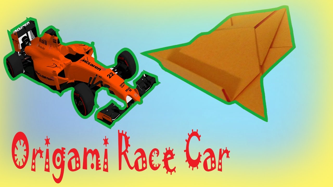 How to make an origami racecar youtube how to make an origami racecar jeuxipadfo Choice Image