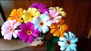 Paper flowers - Zinnia