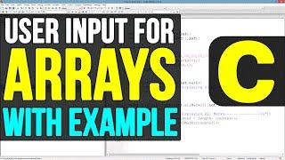 Arrays User Input in C Programming Language Video Tutorials