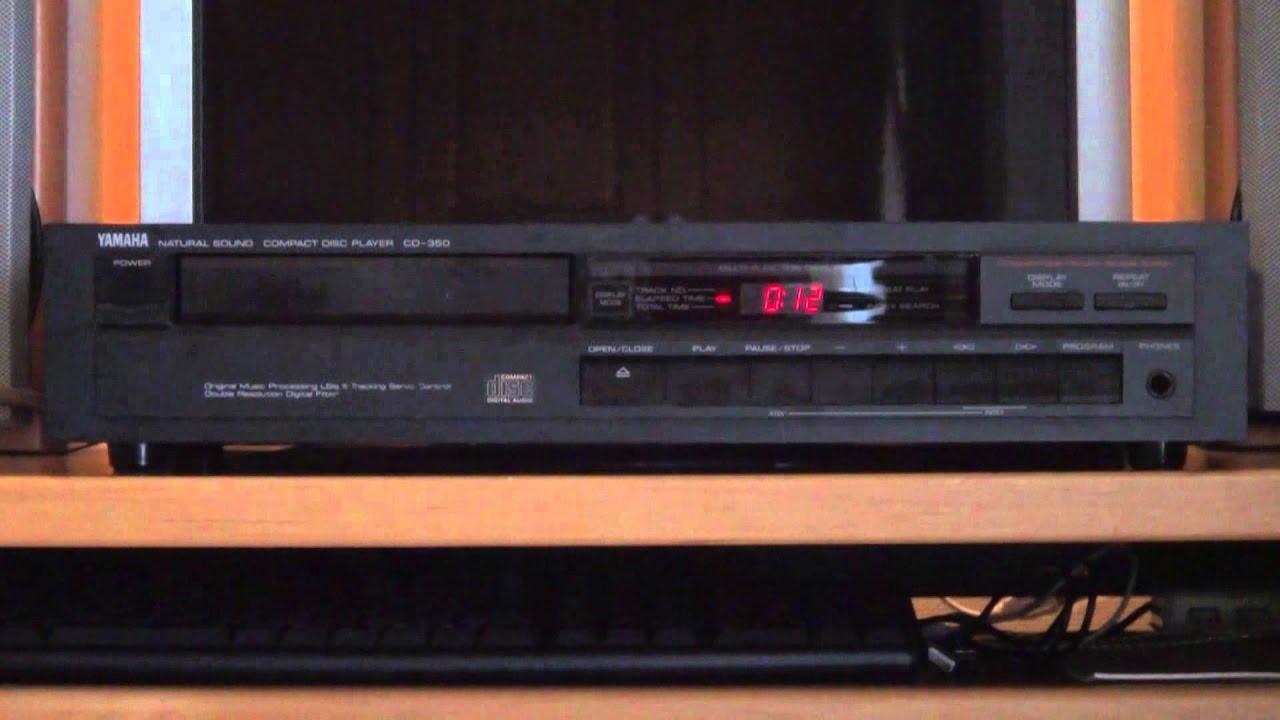 vintage audio yamaha cd player cd 350 youtube. Black Bedroom Furniture Sets. Home Design Ideas