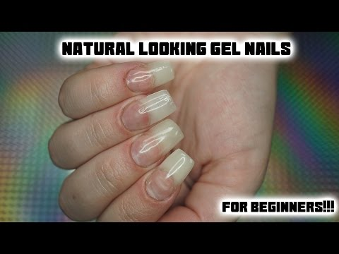 How To Get Natural Looking Gel Nails Using Forms - At Home For Beginners