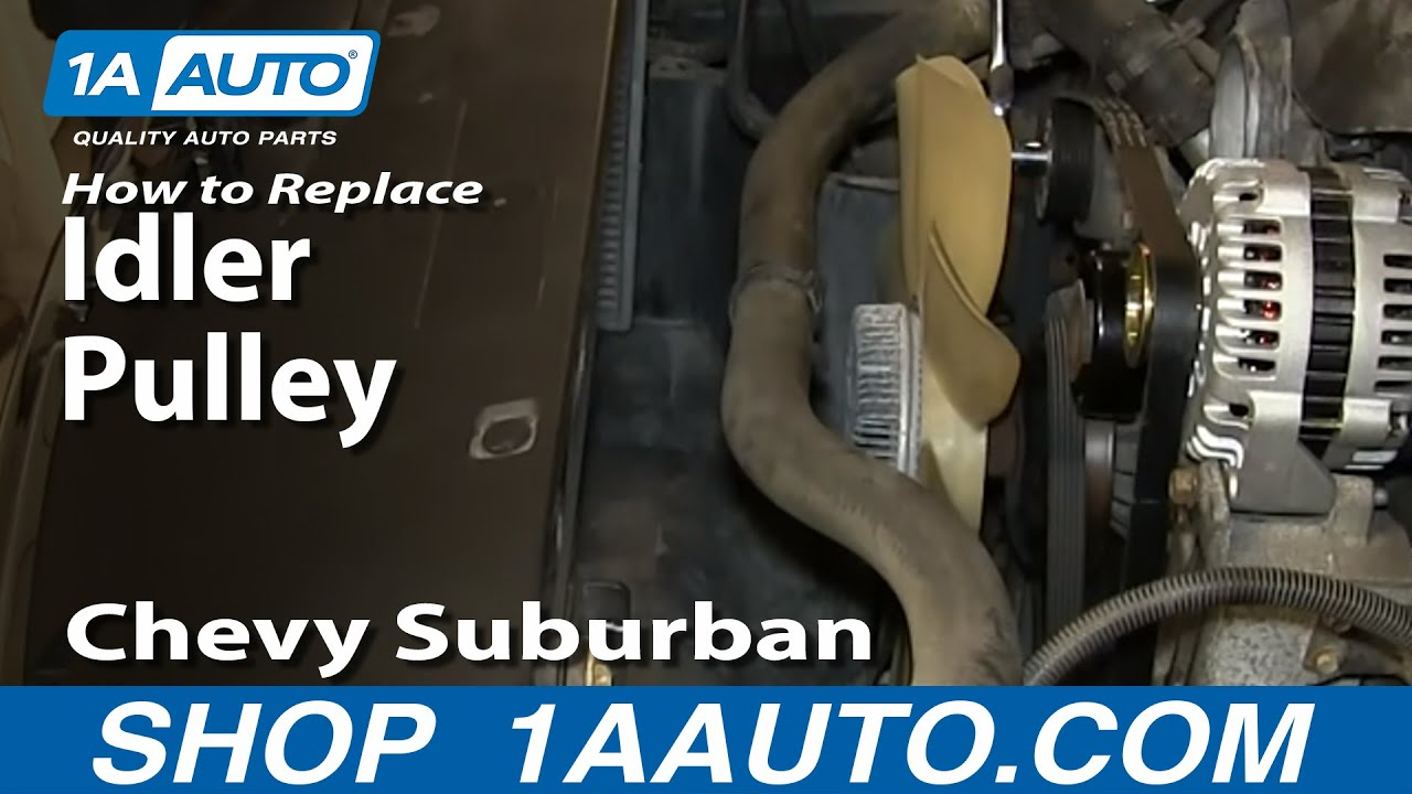 hight resolution of how to replace idler pulley 00 08 chevy suburban