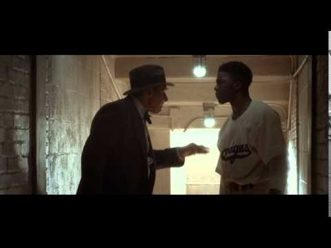 42- Jackie Robinson smashes bat