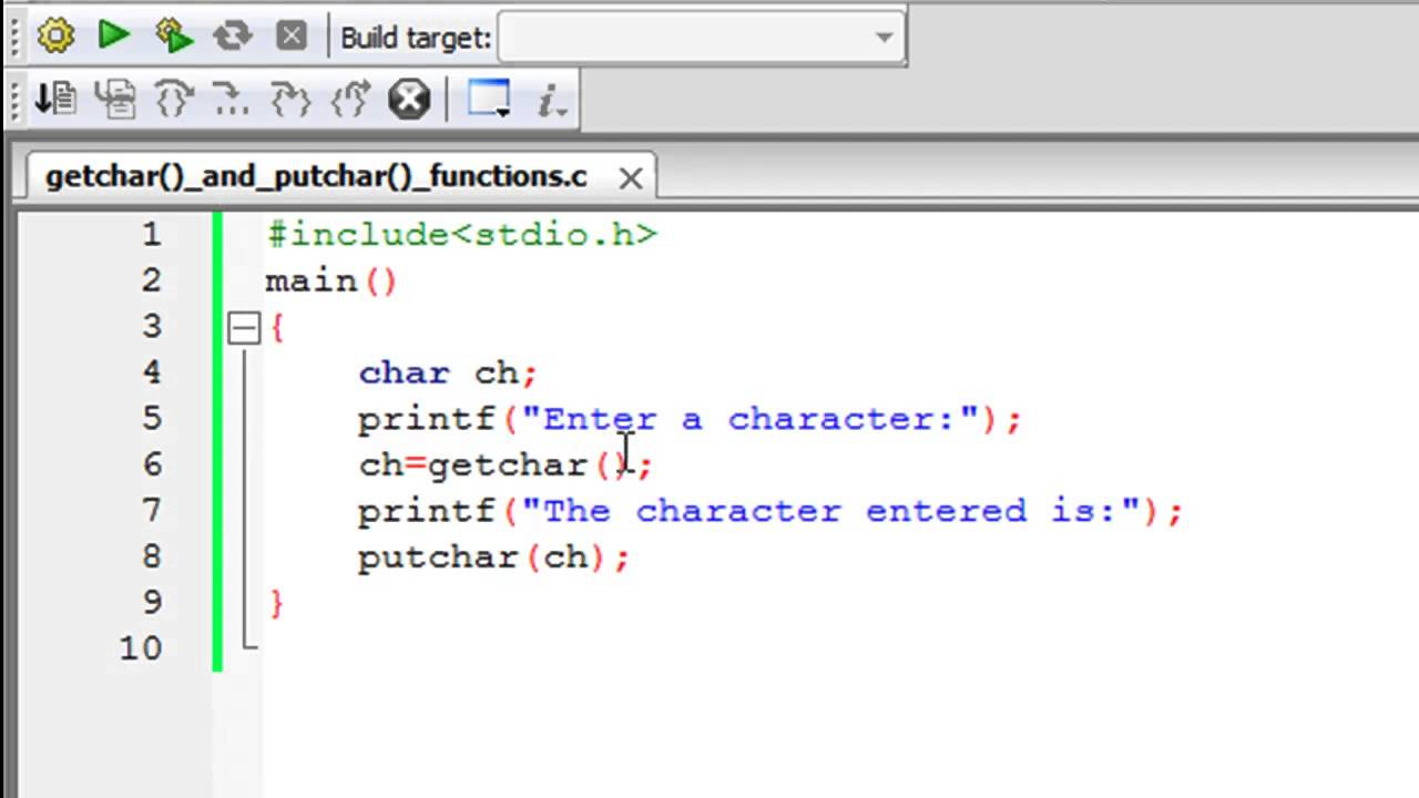 C Programming Tutorial 66 The Getchar And Putchar: compiler for c language