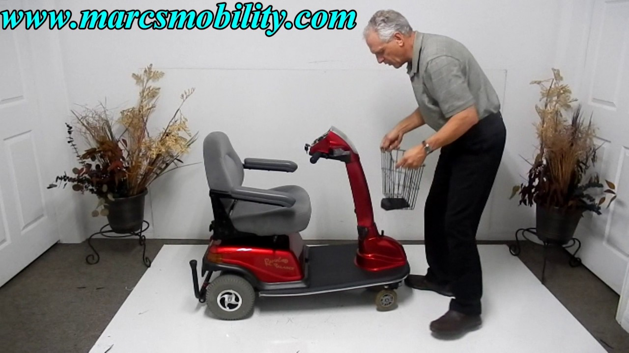 rascal mobility 306b 600 used scooter with seat lift [ 1280 x 720 Pixel ]