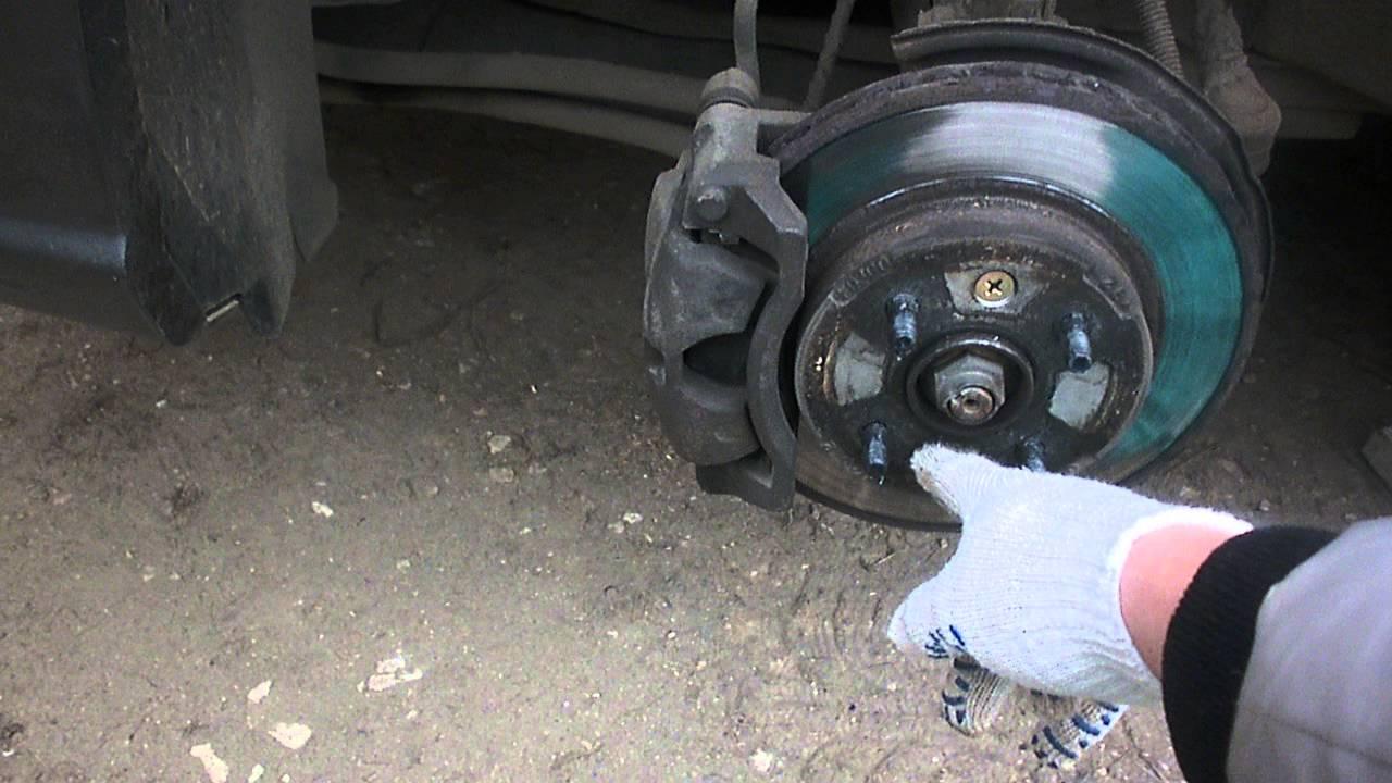 Проверка и замена тормозных дисков хендай солярис - YouTube