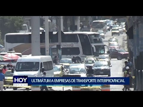 Piura: Ultimátum a empresas de transportes provincial e interprovincial