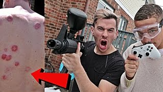 EXTREME PAINTBALL FIFA CHALLENGE!!
