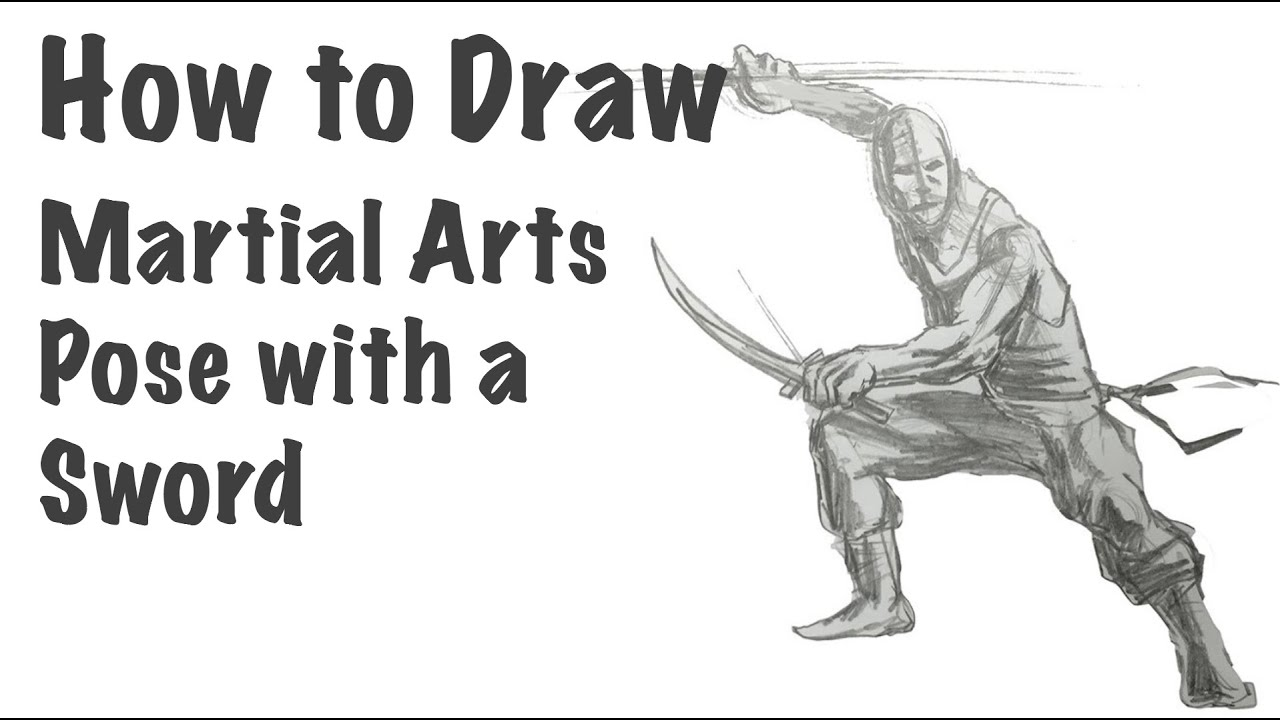 How To Draw A Martial Arts Pose With A Sword