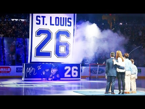 Martin St. Louis jersey number retirement ceremony