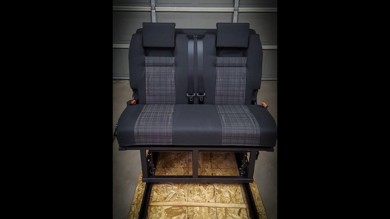 Mercedes Sprinter Camper Van Rock N Roll Seatbed Mock Up Youtube