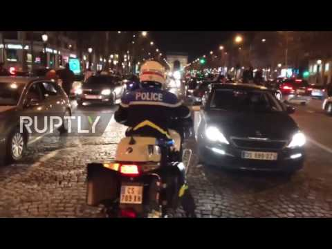 France: Jubilant football fans tear gassed by police in Paris