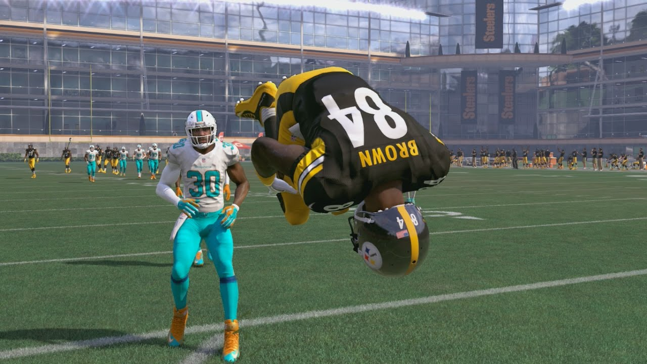 Can I Recreate Antonio Brown's TWO Amazing TD Catches vs the Dolphins in the NFL Wild Card Roun