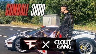 """FaZe Clan & Clout Gang Drive Gumball 3000! - """"On The Road"""""""