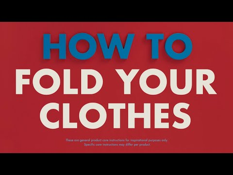 Video: How to Fold Your Clothes | TOMMY HILFIGER