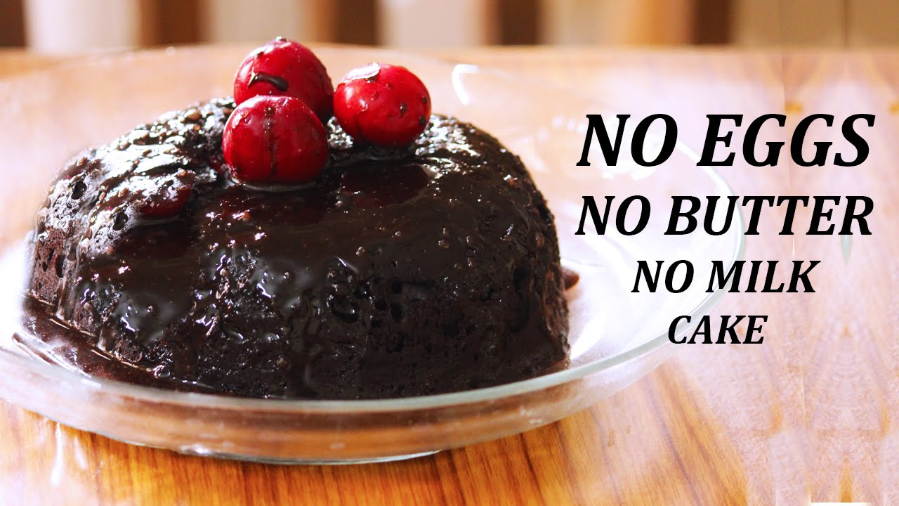 Eggless chocolate cake in microwave no butter no milk for Cake recipe without butter